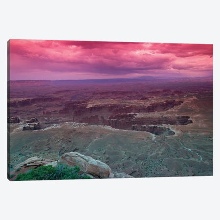 Rock Formations At Canyonlands National Park, Moab, Utah, USA Canvas Print #PIM14848} by Panoramic Images Canvas Print