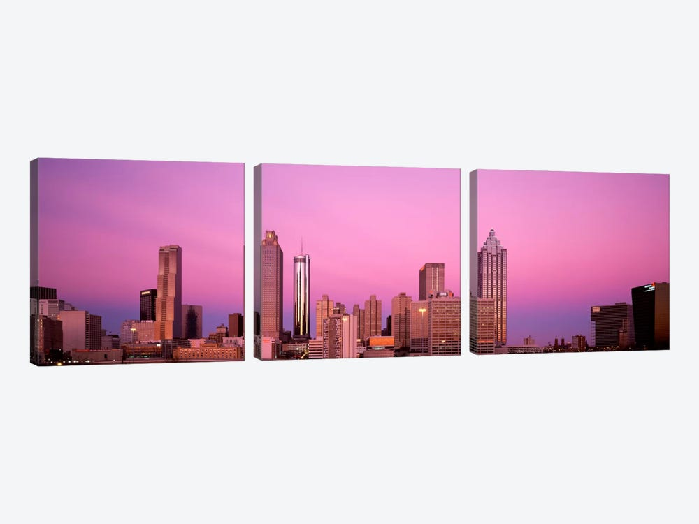 USAGeorgia, Atlanta, Panoramic view of the city at dawn by Panoramic Images 3-piece Canvas Print