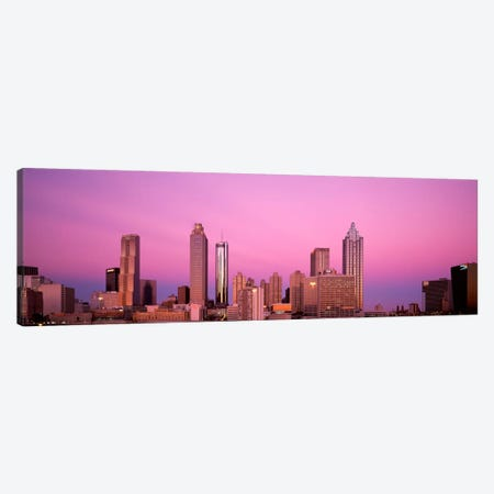 USAGeorgia, Atlanta, Panoramic view of the city at dawn Canvas Print #PIM1484} by Panoramic Images Canvas Art