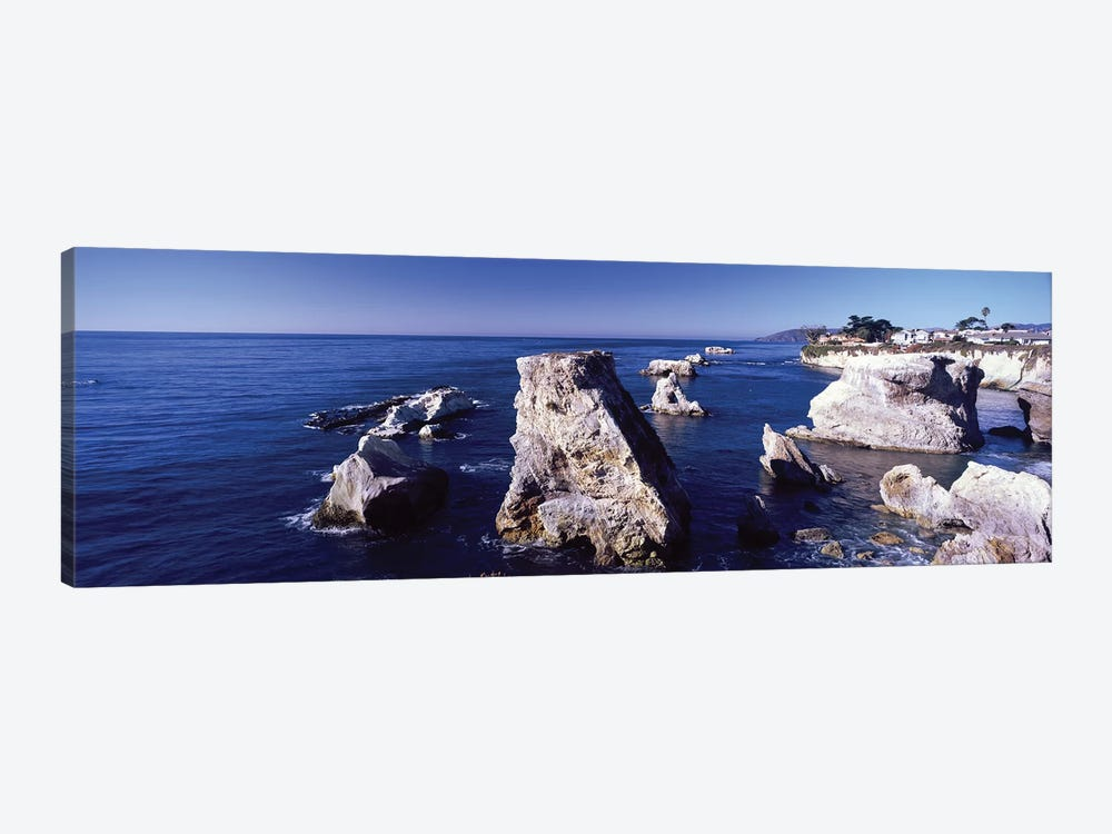 Rock Formations On The Coast, Avila Beach, San Luis Obispo County, California, USA by Panoramic Images 1-piece Canvas Art Print
