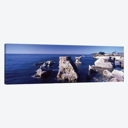 Rock Formations On The Coast, Avila Beach, San Luis Obispo County, California, USA Canvas Print #PIM14851} by Panoramic Images Canvas Art