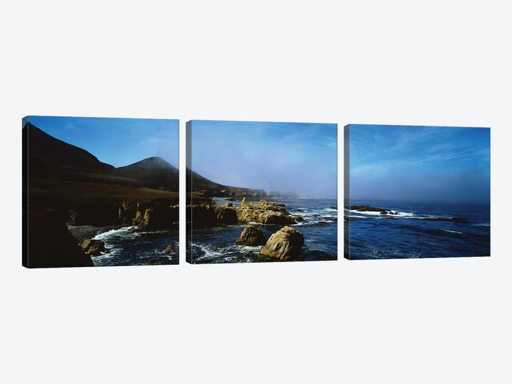 Rock Formations On The Coast, Big Sur, Garrapata State Beach, Monterey Coast, California, USA I by Panoramic Images 3-piece Canvas Art
