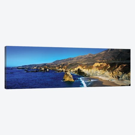 Rock Formations On The Coast, Big Sur, Garrapata State Beach, Monterey Coast, California, USA II Canvas Print #PIM14853} by Panoramic Images Canvas Artwork