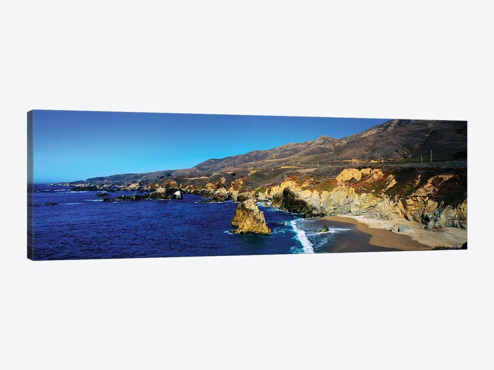 Rock Formations On The Coast, Big Sur, Garrapata State Beach, Monterey Coast, California, USA II by Panoramic Images 1-piece Canvas Art Print