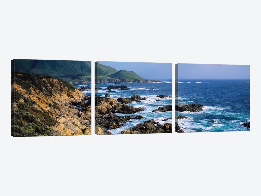 Rock Formations On The Coast, Big Sur, Garrapata State Beach, Monterey Coast, California, USA III by Panoramic Images 3-piece Canvas Artwork