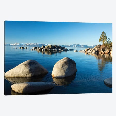 Rocks In A Lake, Lake Tahoe, California, USA I Canvas Print #PIM14858} by Panoramic Images Canvas Wall Art