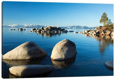 Rocks In A Lake, Lake Tahoe, California, USA I Canvas Art Print