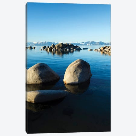 Rocks In A Lake, Lake Tahoe, California, USA II Canvas Print #PIM14859} by Panoramic Images Canvas Art
