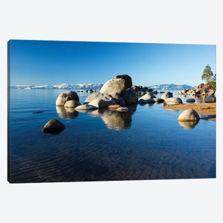 Rocks In A Lake, Lake Tahoe, California, USA III Canvas Print #PIM14860} by Panoramic Images Art Print