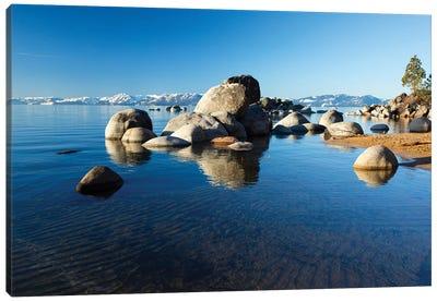 Rocks In A Lake, Lake Tahoe, California, USA III Canvas Art Print