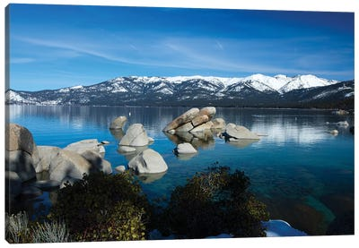 Rocks In A Lake, Lake Tahoe, California, USA IV Canvas Art Print