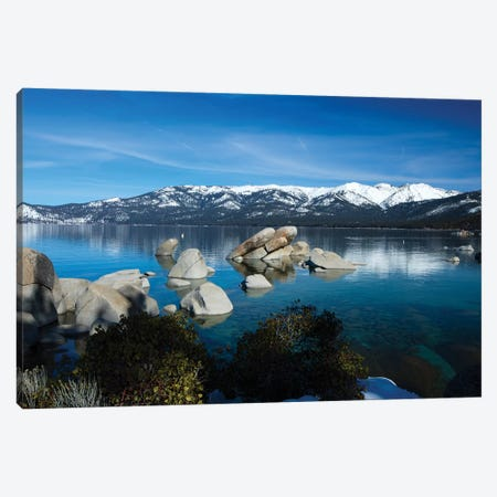 Rocks In A Lake, Lake Tahoe, California, USA IV Canvas Print #PIM14861} by Panoramic Images Art Print