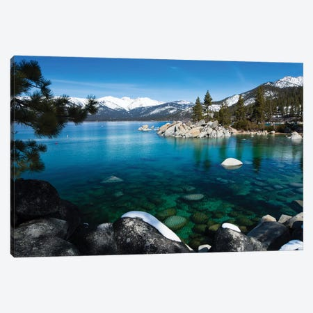 Rocks In A Lake, Lake Tahoe, California, USA V Canvas Print #PIM14862} by Panoramic Images Canvas Print