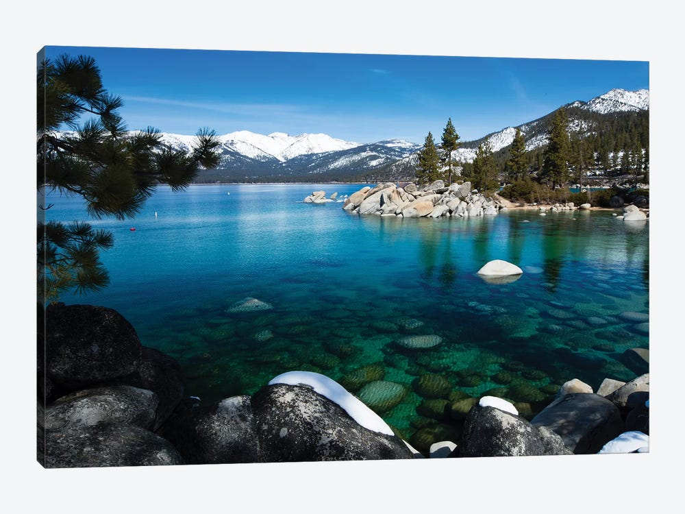 Rocks In A Lake, Lake Tahoe, California, USA V by Panoramic Images 1-piece Canvas Print