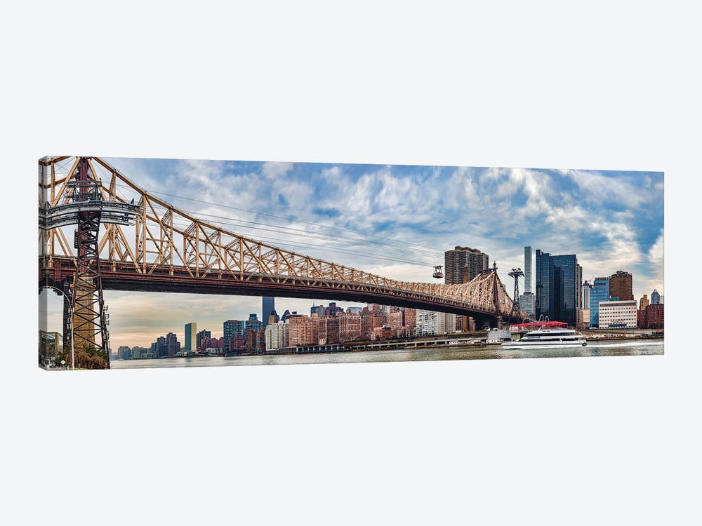 Roosevelt Island Tramway Over Queensboro Bridge Crossing The East River, Manhattan, NYC, New York State, USA by Panoramic Images 1-piece Canvas Wall Art