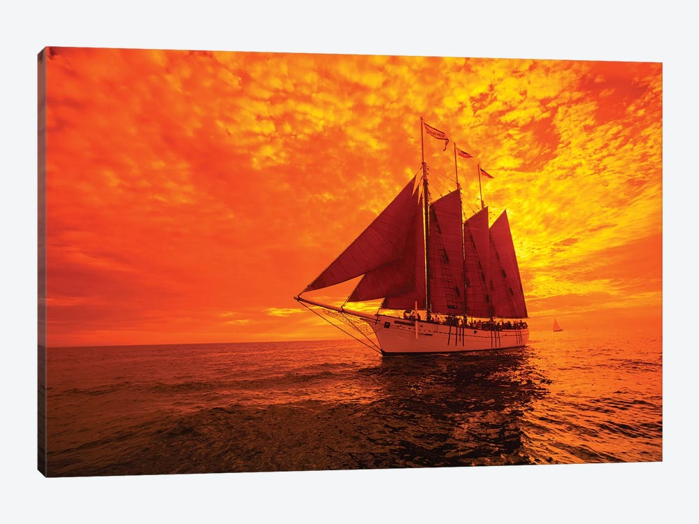 Sailboat And Tall Ship The Pacific Ocean, Dana Point Harbor, Dana Point, Orange County, California, USA II by Panoramic Images 1-piece Canvas Print