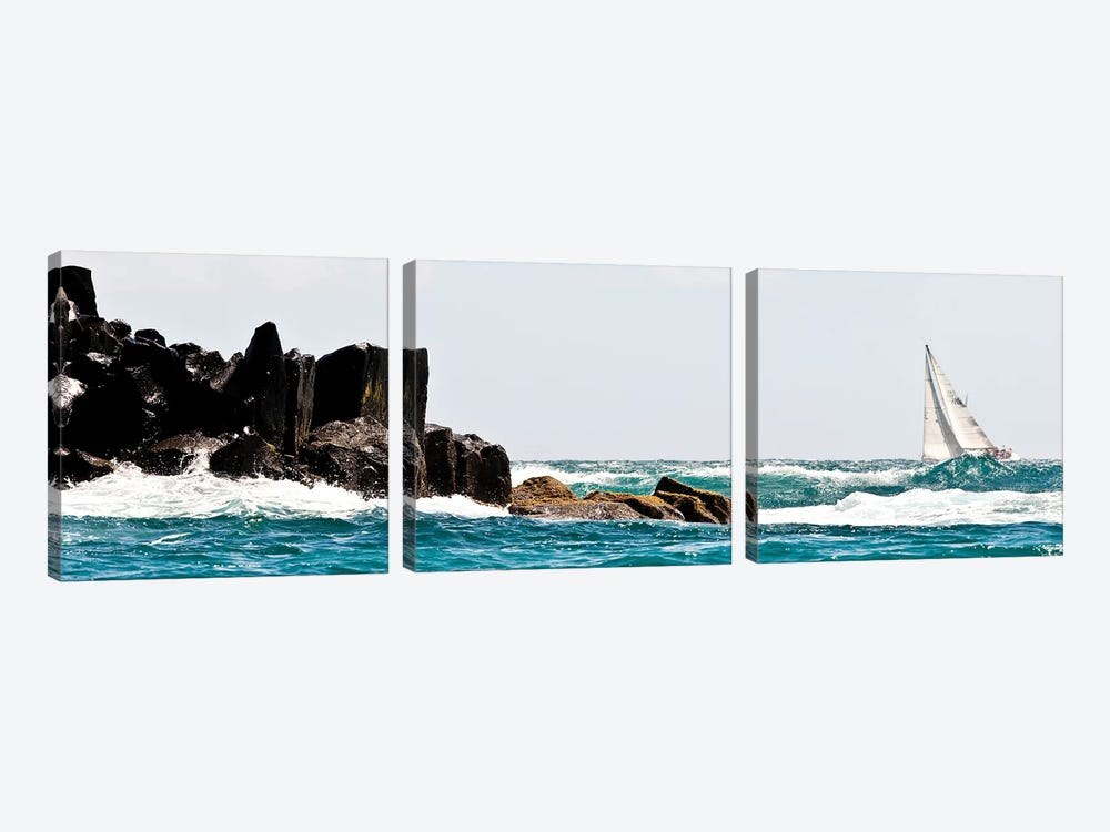 Sailboat Competing In The Grenada Sailing Festival, Grenada I by Panoramic Images 3-piece Art Print