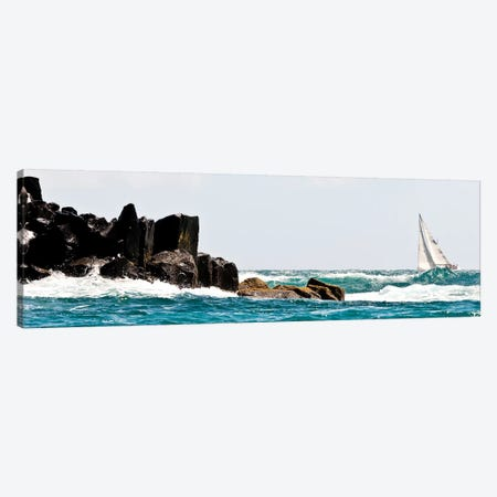 Sailboat Competing In The Grenada Sailing Festival, Grenada I Canvas Print #PIM14868} by Panoramic Images Art Print