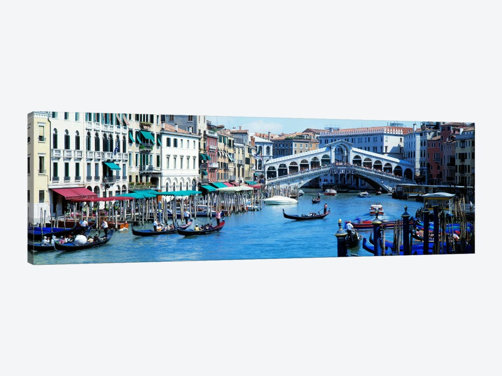 Rialto Bridge & Grand Canal Venice Italy by Panoramic Images 1-piece Art Print
