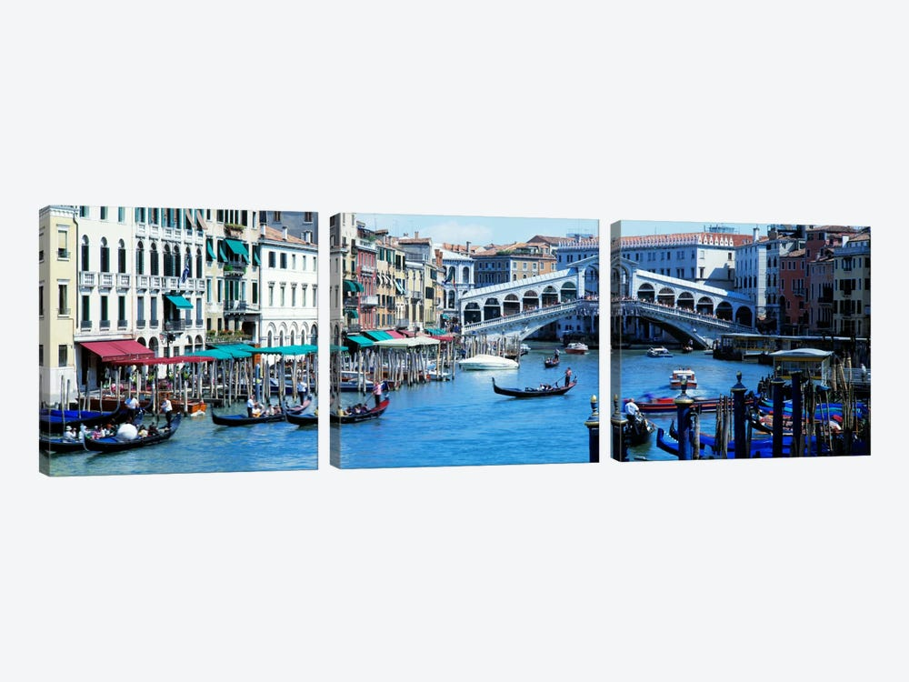 Rialto Bridge & Grand Canal Venice Italy by Panoramic Images 3-piece Art Print