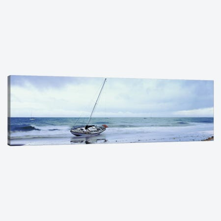 Sailboat In Ocean, Santa Barbara, Santa Barbara County, California, USA Canvas Print #PIM14872} by Panoramic Images Canvas Wall Art