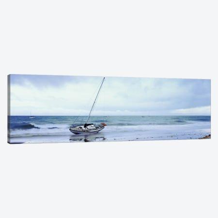Sailboat In Ocean, Santa Barbara, Santa Barbara County, California, USA Canvas Print #PIM14872} by Panoramic Images Canvas Wall Art