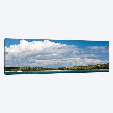 Sailboat In Sea, Culebra Island, Puerto Rico Canvas Print #PIM14873} by Panoramic Images Canvas Wall Art