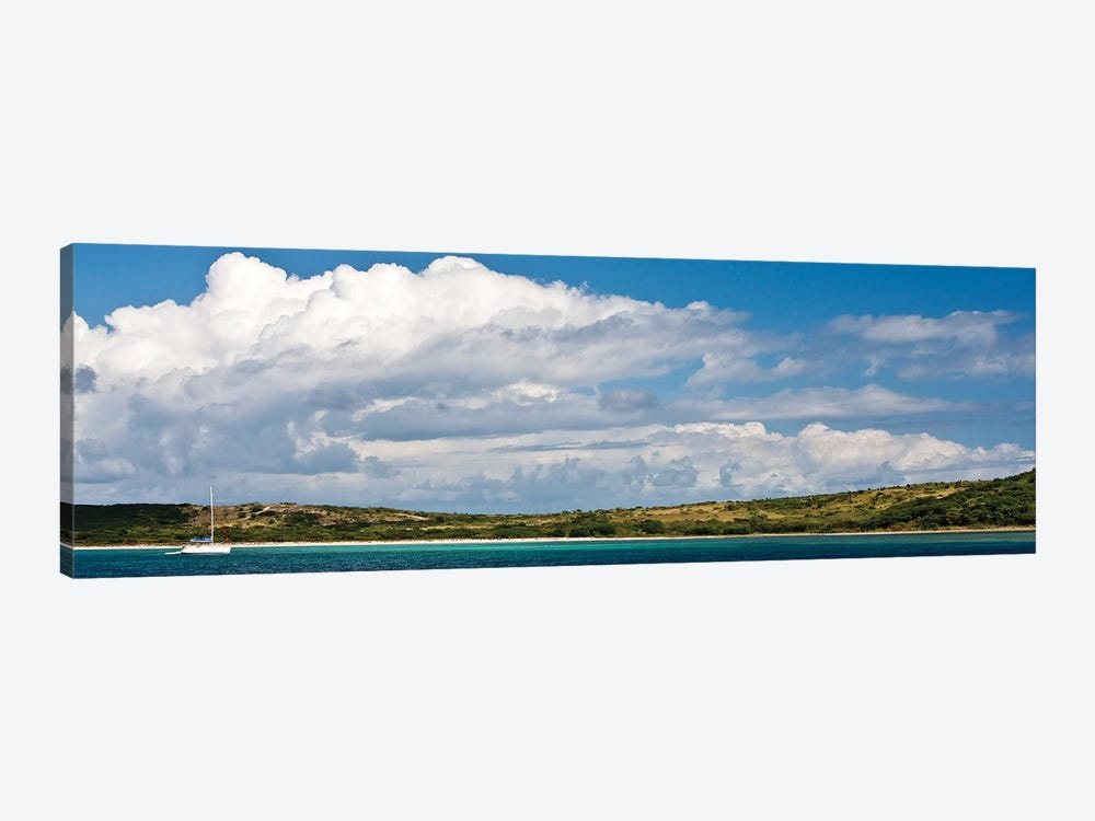 Sailboat In Sea, Culebra Island, Puerto Rico by Panoramic Images 1-piece Canvas Print