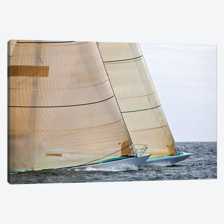 Sailboats Competing In The 12-Metre Class Championship, Newport, Rhode Island, USA Canvas Print #PIM14874} by Panoramic Images Canvas Art Print