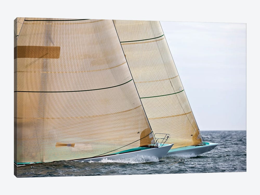 Sailboats Competing In The 12-Metre Class Championship, Newport, Rhode Island, USA by Panoramic Images 1-piece Canvas Artwork