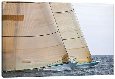Sailboats Competing In The 12-Metre Class Championship, Newport, Rhode Island, USA Canvas Art Print