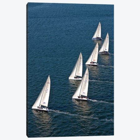 Sailboats In Swan NYYC Invitational Regatta, Newport, Rhode Island, USA Canvas Print #PIM14877} by Panoramic Images Art Print