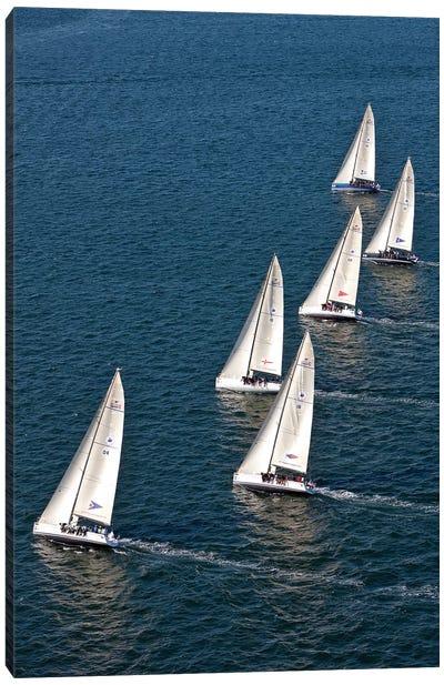 Sailboats In Swan NYYC Invitational Regatta, Newport, Rhode Island, USA Canvas Art Print