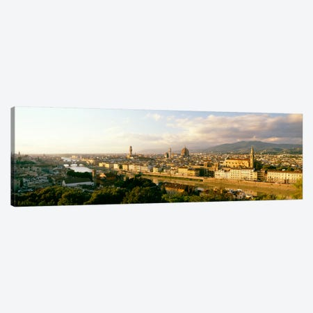 The Duomo & Arno River Florence Italy Canvas Print #PIM1487} by Panoramic Images Canvas Art