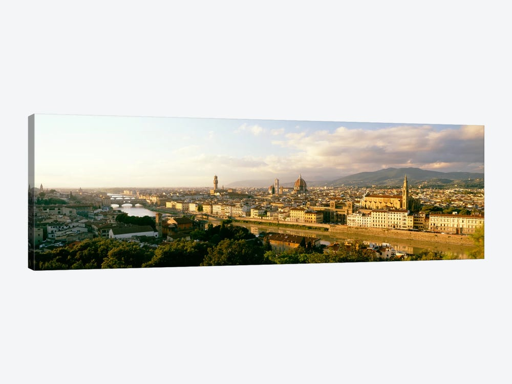 The Duomo & Arno River Florence Italy by Panoramic Images 1-piece Canvas Artwork