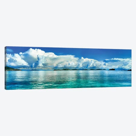 Sapphire Beach, St. Thomas, U.S. Virgin Islands Canvas Print #PIM14881} by Panoramic Images Art Print