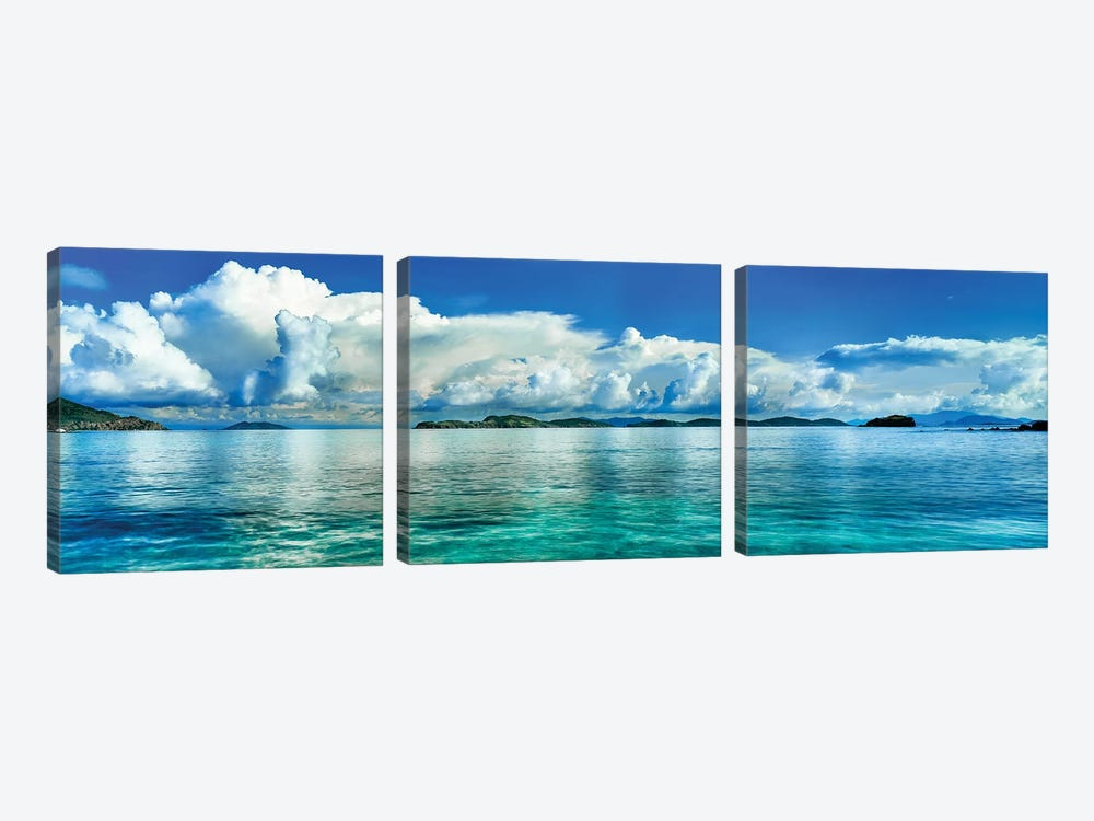 Sapphire Beach, St. Thomas, U.S. Virgin Islands by Panoramic Images 3-piece Canvas Wall Art