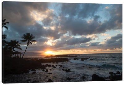 Scenic View Of Beach During Sunset, Hawaii, USA I Canvas Art Print