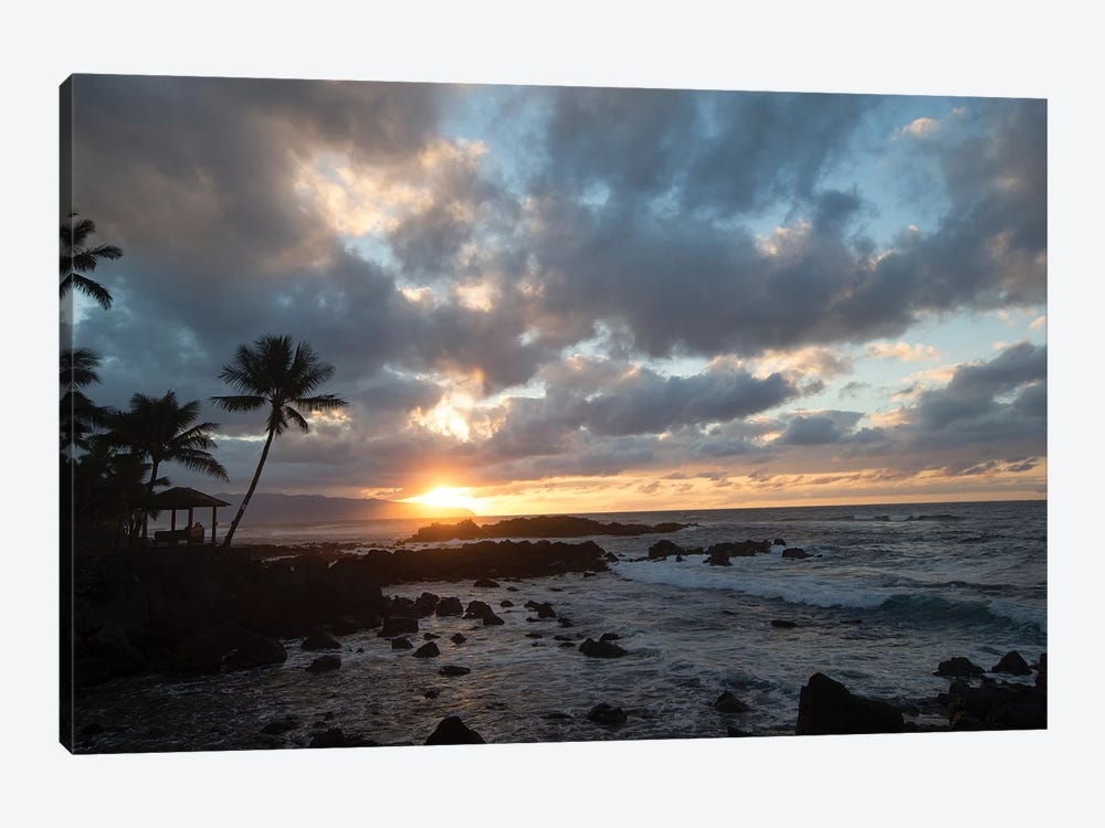 Scenic View Of Beach During Sunset, Hawaii, USA I 1-piece Art Print