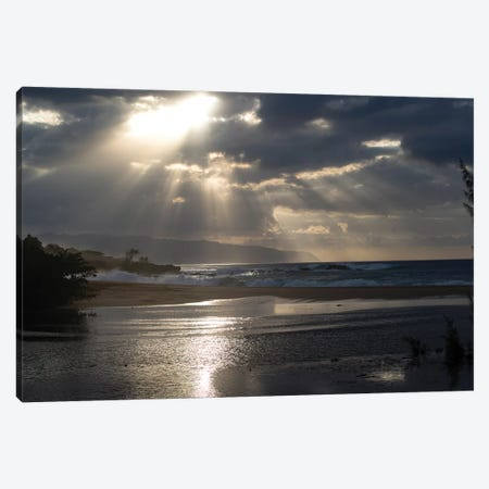 Scenic View Of Beach During Sunset, Hawaii, USA II Canvas Print #PIM14883} by Panoramic Images Canvas Art Print