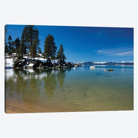 Scenic View Of Lake Tahoe, California, USA Canvas Print #PIM14884} by Panoramic Images Canvas Wall Art