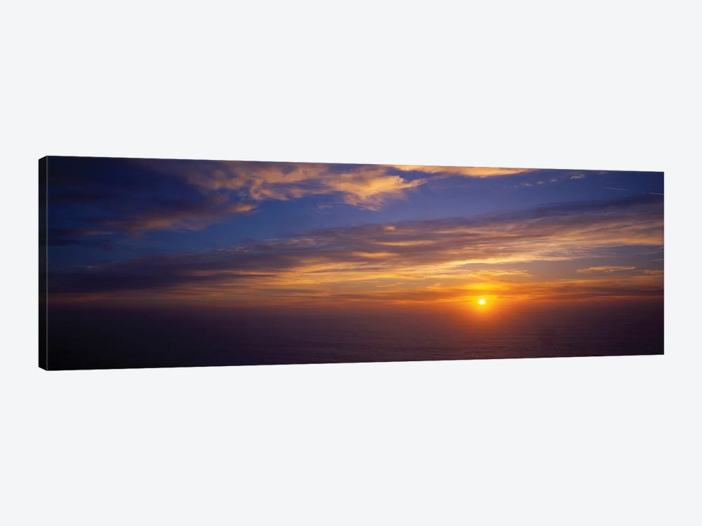 Scenic View Of Pacific Ocean At Sunset, Kauai, Hawaii, USA 1-piece Canvas Print