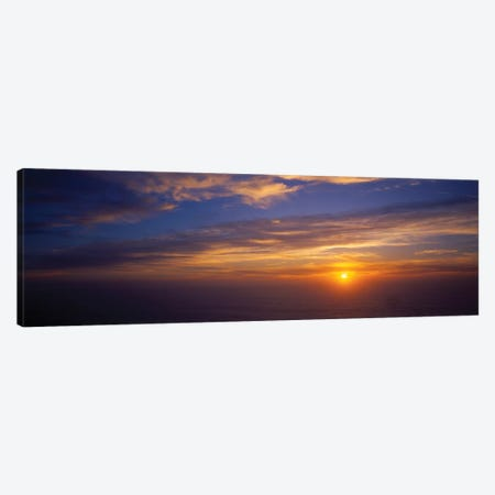 Scenic View Of Pacific Ocean At Sunset, Kauai, Hawaii, USA Canvas Print #PIM14886} by Panoramic Images Canvas Wall Art