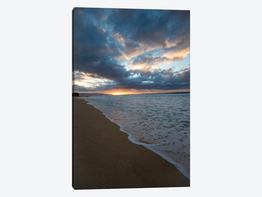 Scenic View Of Surf On Beach Against Cloudy Sky, Hawaii, USA II by Panoramic Images 1-piece Canvas Wall Art