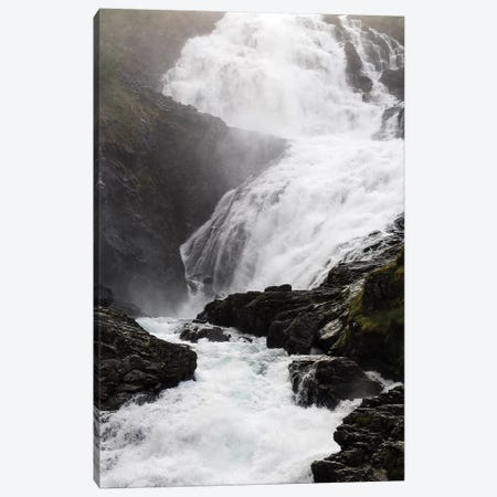 Scenic View Of Waterfall, Kjosfossen, Sogn Og Fjordane County, Norway Canvas Print #PIM14892} by Panoramic Images Canvas Art