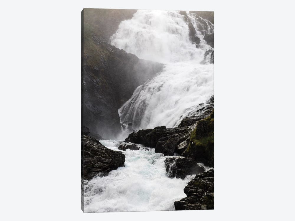 Scenic View Of Waterfall, Kjosfossen, Sogn Og Fjordane County, Norway by Panoramic Images 1-piece Canvas Art