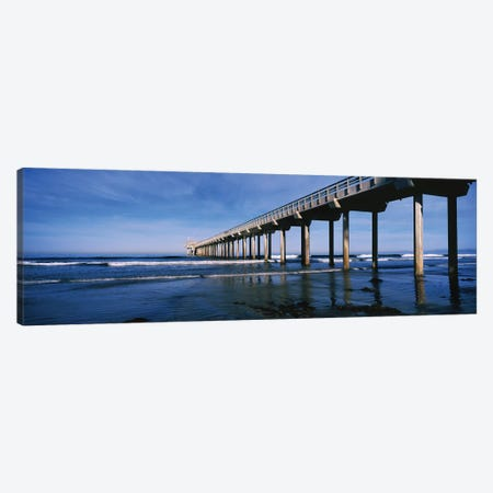 Scripps Pier, La Jolla, San Diego, California, USA Canvas Print #PIM14897} by Panoramic Images Art Print