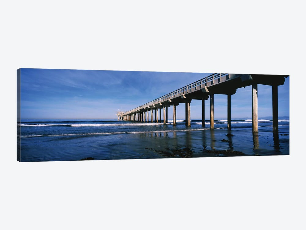 Scripps Pier, La Jolla, San Diego, California, USA by Panoramic Images 1-piece Canvas Print