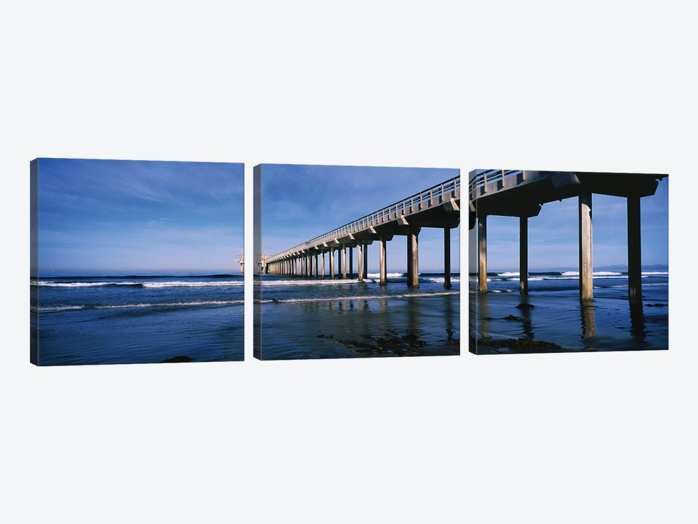 Scripps Pier, La Jolla, San Diego, California, USA by Panoramic Images 3-piece Art Print