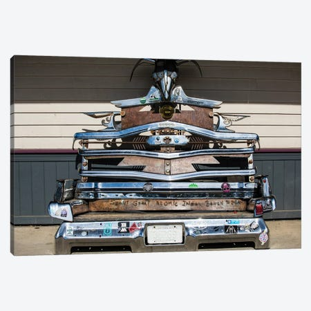 Sculpture Made By Various Parts Of Automobiles, Crested Butte, Colorado, USA Canvas Print #PIM14898} by Panoramic Images Canvas Artwork